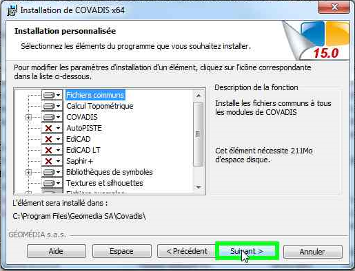 FICHIER DE PERSONNALISATION COVADIS 13